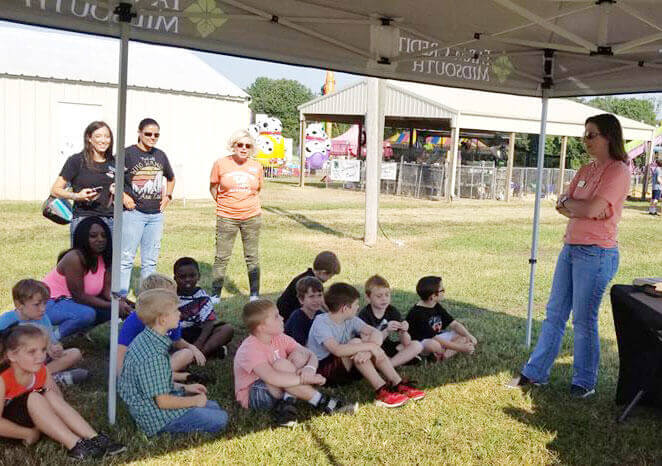 Promoting the importance of agriculture to area youth.