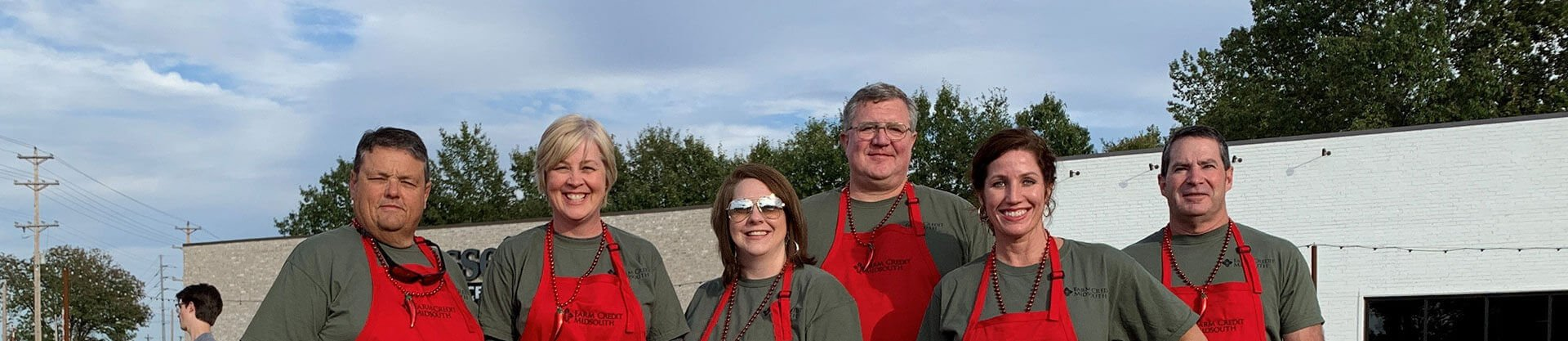 Farm Credit Midsouth employees participating in a chili cookoff