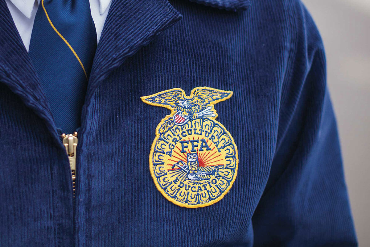 Agricultural Education FFA Badge on a Jacket